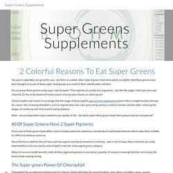 Super Greens Supplements