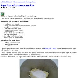 Super Mario Mushroom Cookies (Snack or Die - Video Game Cookies)