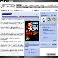 Super Mario Bros. - The Nintendo Wiki - Wii, Nintendo DS, and all things Nintendo