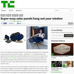 Super-easy solar panels hang out your window