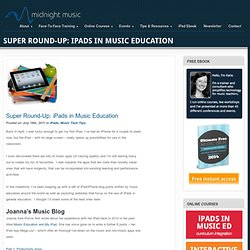 Super Round-Up - iPads in Music Education