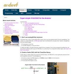 Super simple 10 bit DAC for the Arduino