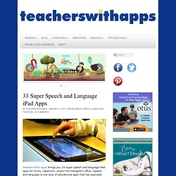 33 Super Speech and Language iPad Apps