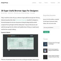 20 Super Useful Browser Apps For Designers