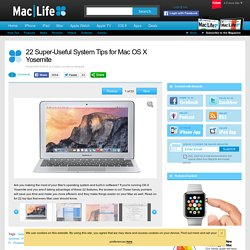 22 Super-Useful System Tips for Mac OS X Yosemite