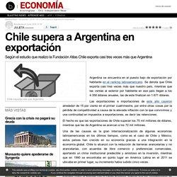 Chile supera a Argentina en exportación