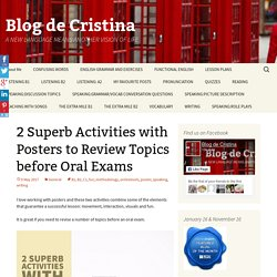 2 Superb Activities with Posters to Review Topics before Oral Exams