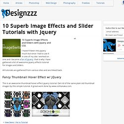 10 Superb Image Effects and Slider Tutorials with Jquery