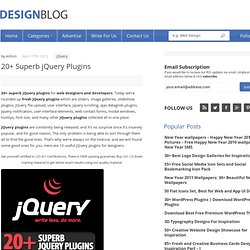 20+ Superb jQuery Plugins