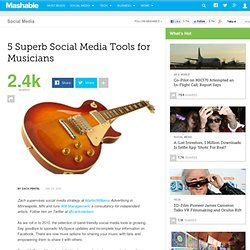 5 Superb Social Media Tools for Musicians