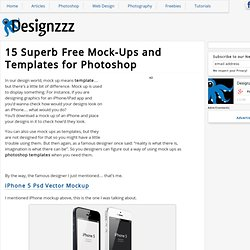 15 Superb Free Mock-Ups and Templates for Photoshop