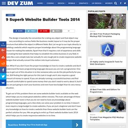 9 Superb Website Builder Tools 2014