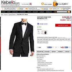 Superbe costume homme Noir pas cher reference vita