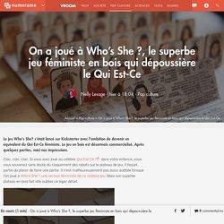 On a joué à Who's She ?, le superbe jeu féministe en bois qui dépoussière le Qui Est-Ce
