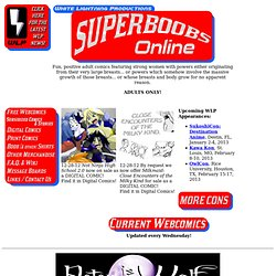 SUPERBOOBS ONLINE- adult comics from White Lightning Productions