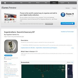 Superbrothers: Sword & Sworcery EP on the App Store on iTunes