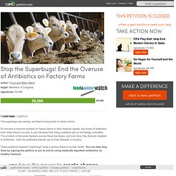 Stop the Superbugs! End the Overuse of Antibiotics on Factory Farms