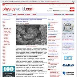 Graphene supercapacitor breaks storage record
