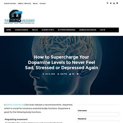 How to Supercharge Your Dopamine Levels to Never Feel Sad, Stressed or Depressed Again · The Mind Unleashed