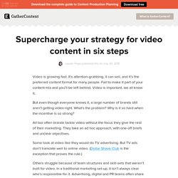 Supercharge your strategy for video content in six steps