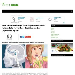 How to Supercharge Your Dopamine Levels Naturally to Never Feel Sad, Stressed or Depressed Again! - ORGANIC AND HEALTHY
