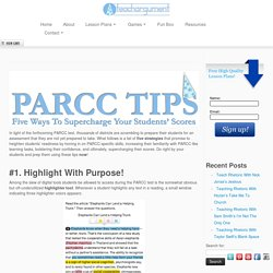 PARCC Tips: Five Ways To Supercharge Student Performance