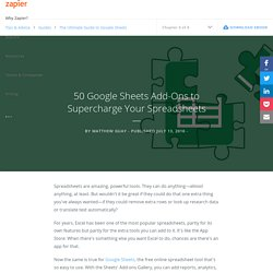 50 Google Sheets Add-Ons to Supercharge Your Spreadsheets - The Ultimate Guide to Google Sheets