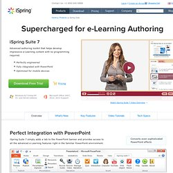 Supercharged Authoring Toolkit for E-Learning