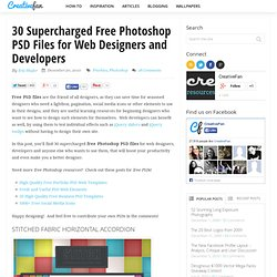 30 Supercharged Free Photoshop PSD Files for Web Designers and Developers