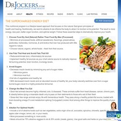 The SuperCharged Energy Diet - DrJockers.com