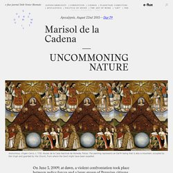 e-flux journal 56th Venice Biennale – SUPERCOMMUNITY – Uncommoning Nature