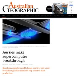 Aussies make supercomputer breakthrough