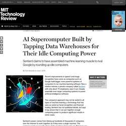 A Machine-Learning Supercomputer Woven from Idle Computers