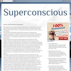 Psionic and Psychotronic Generators