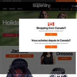 Superdry - Jackets, T Shirts, Hoodies, Shorts, Mens & Womens Clothing