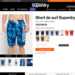 Superdry - Short de surf Superdry - Shorts pour Homme