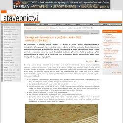 Ekologické dřevostavby spoužitím desek OSB SUPERFINISH ECO