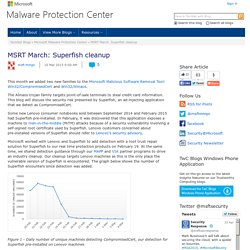 MSRT March: Superfish cleanup - Microsoft Malware Protection Center