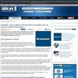 Superfish : Lenovo place un adware dans ses produits, pour un nouveau modèle économique ?