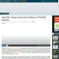 Un adware livré avec les machines Lenovo pose un sérieux risque de sécurité