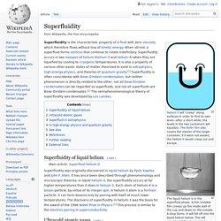 Superfluidity