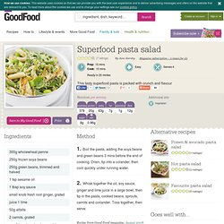 Superfood pasta salad recipe