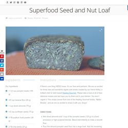 Superfood Seed and Nut Loaf – WEDO Banana Flour