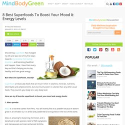 8 Best Superfoods To Boost Your Mood & Energy Levels
