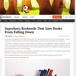 Superhero Bookends That Save Books From Falling Down