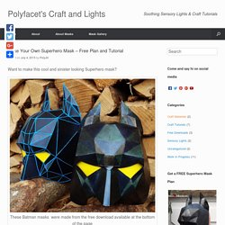 Make Your Own Superhero Mask – Free Plan and Tutorial