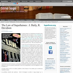 The Law of Superheroes : J. Daily, R. Davidson
