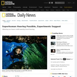 Superhuman Hearing Possible, Experiments Suggest