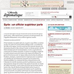 Syrie: un officier supérieur parle, par Zénobie