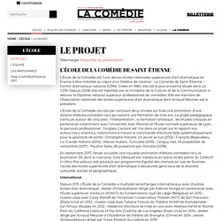 Le projet – École supérieure d'art dramatique de Saint-Etienne